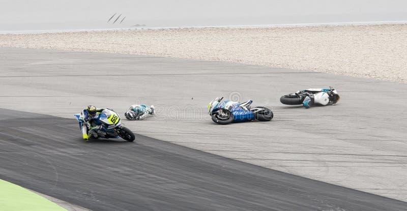 FIM CEV REPSOL - DÉBUT DE RACE DE MOTO 2 photographie stock libre de droits