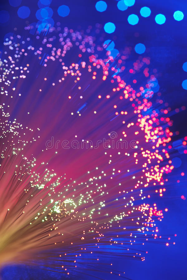 Fim claro da varinha da fibra óptica acima imagens de stock royalty free