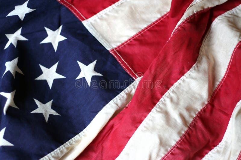 Fim da bandeira americana acima de 3 foto de stock royalty free