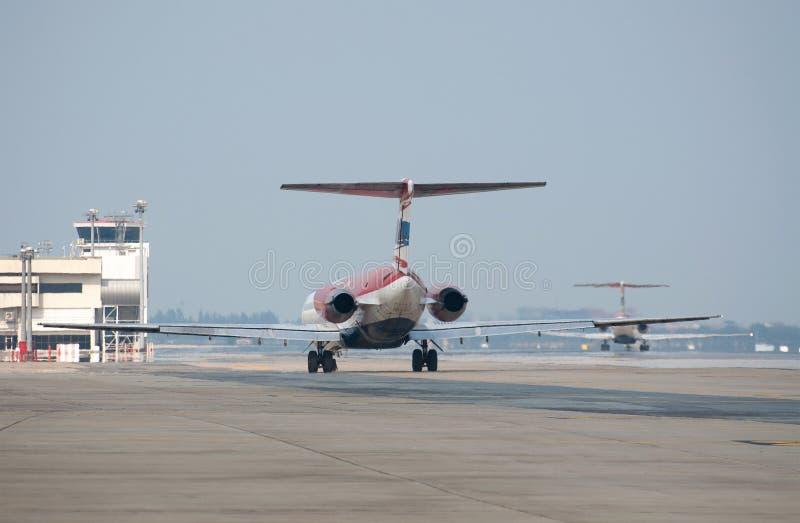 Fim da cauda do avião fotografia de stock royalty free