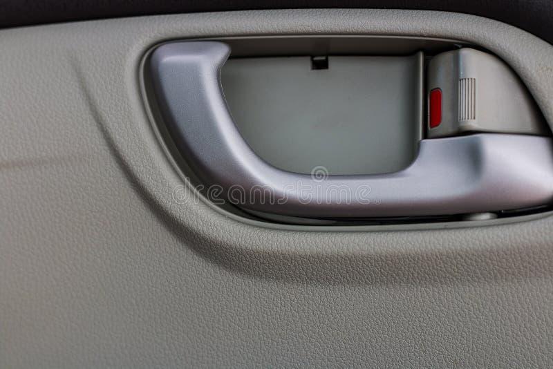 Fim da colagem dos detalhes do interior do carro acima da foto imagem de stock