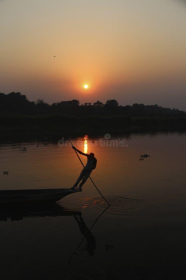 Fim da entrada da porta do parque nacional de Chitwan do dia longo imagem de stock royalty free