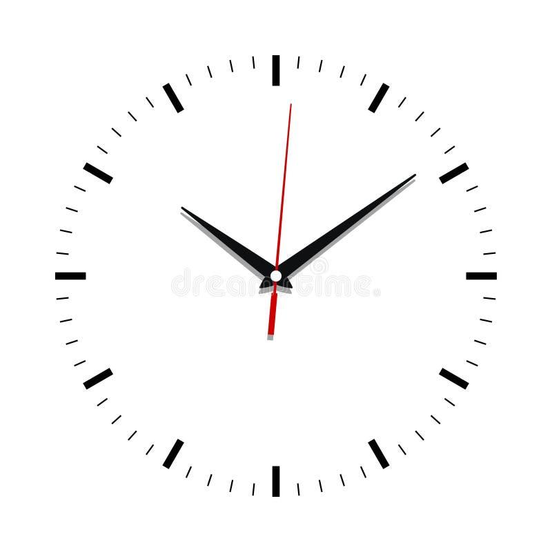 Fim da face do relógio acima sem números ilustração royalty free