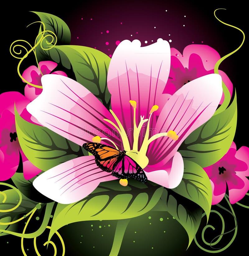 Fim da flor da beleza acima   ilustração do vetor