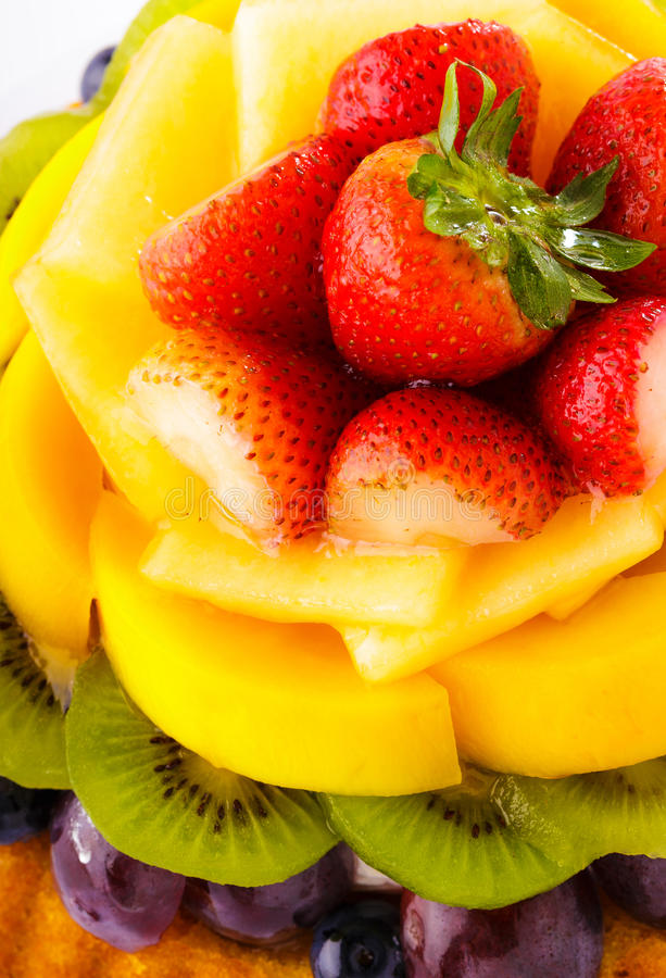 Fim da galdéria do fruto acima imagem de stock