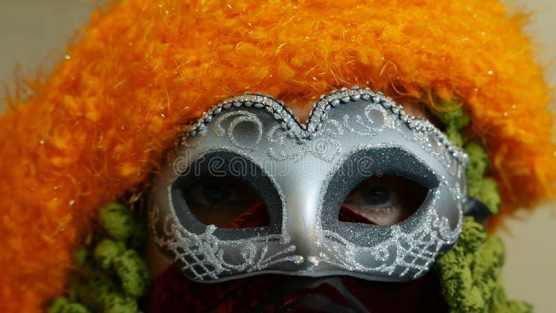 Fim da máscara do carnaval de Veneza acima foto de stock royalty free