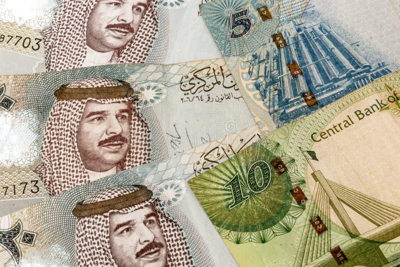 Fim da moeda de Barém acima imagem de stock