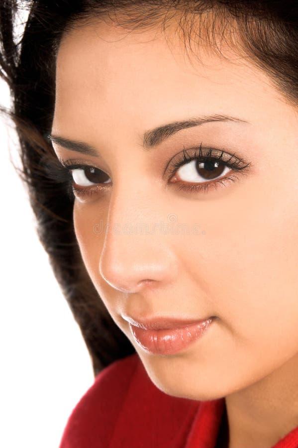 Fim da mulher de Latina acima fotografia de stock