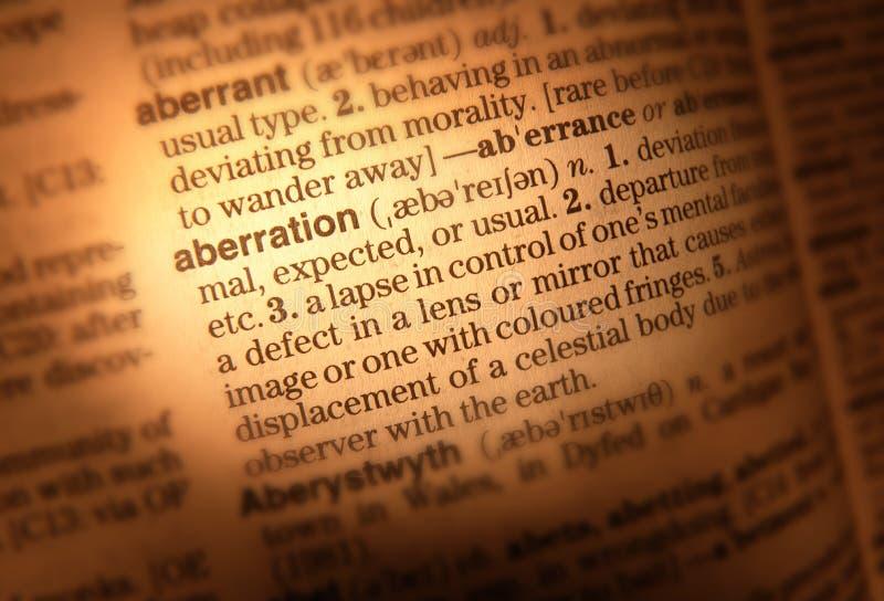Fim da página do dicionário acima foto de stock royalty free