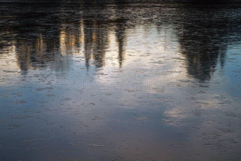 Fim da superfície do gelo acima imagens de stock