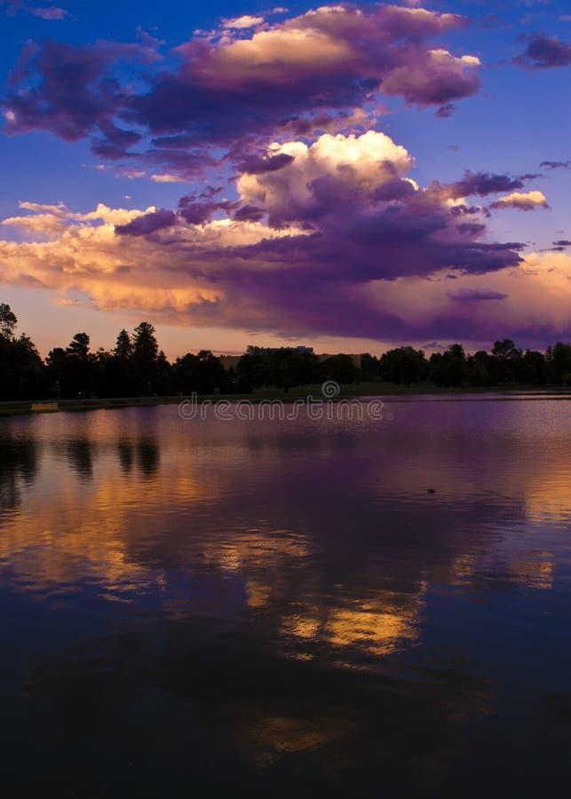 Fim da tarde no parque da cidade, Denver imagem de stock royalty free