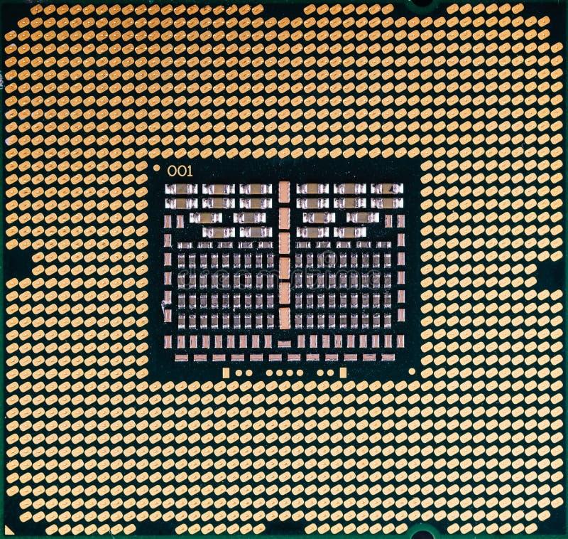 Fim da textura do computador da microplaqueta de processador do processador central acima fotografia de stock