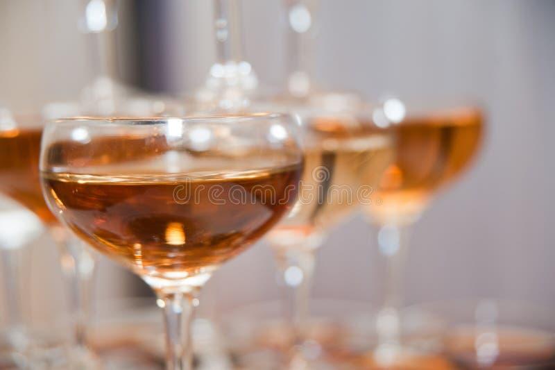 Fim da torre de Champagne acima imagens de stock royalty free