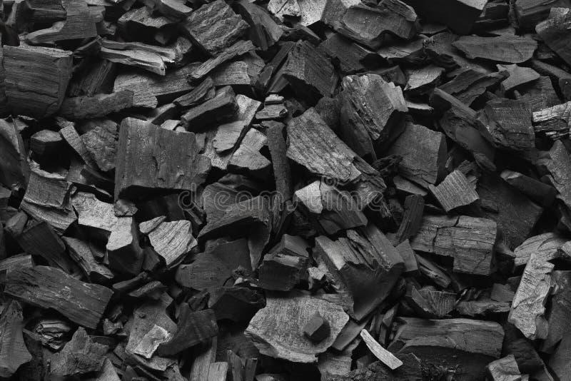 Fim de carvão da grade do assado acima Fundo preto da textura do carvão vegetal imagem de stock royalty free