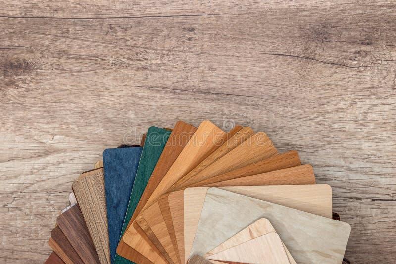 fim de madeira do guia da paleta da textura acima fotografia de stock