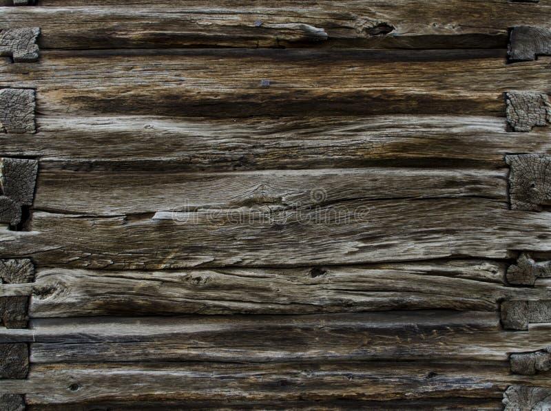 Fim de madeira envelhecido vintage da textura do fundo do marrom escuro acima imagens de stock