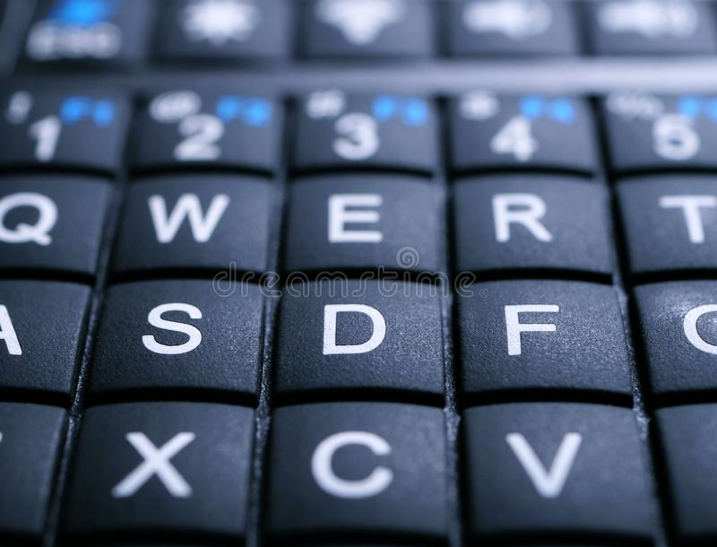 Fim de Mini Keyboard acima imagens de stock royalty free