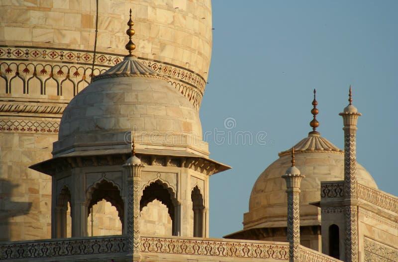 Fim de Taj Mahal acima foto de stock royalty free