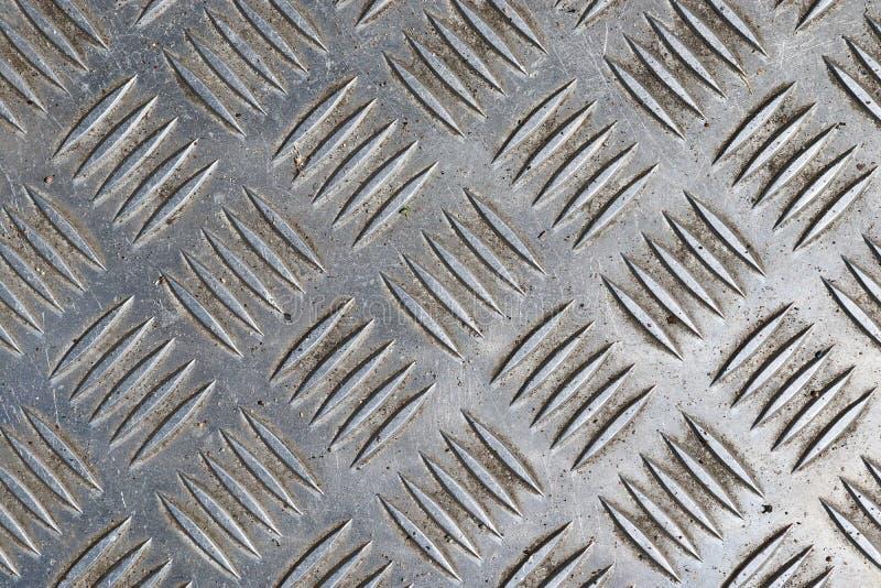 Fim detalhado acima da vista no metal e das texturas de superfície de aço na alta resolução foto de stock