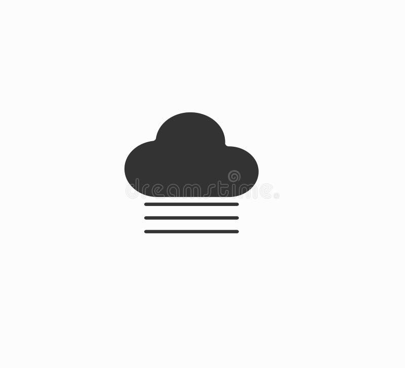 Fim do ícone da Web da nuvem e da névoa acima ilustração stock