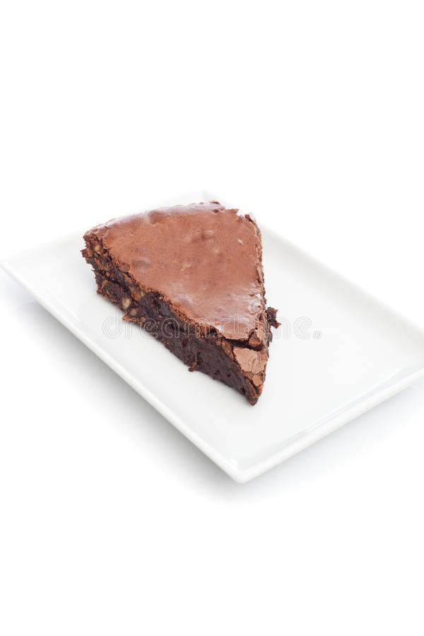 Download Bolo Da Brownie Do Chocolate Foto de Stock - Imagem de dessert, coza: 29825418
