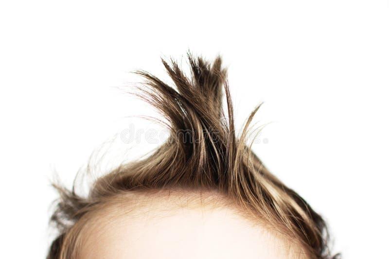 Fim do cabelo do bebê imagens de stock royalty free