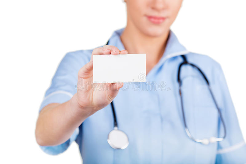 Fim do cartão do doutor acima foto de stock royalty free