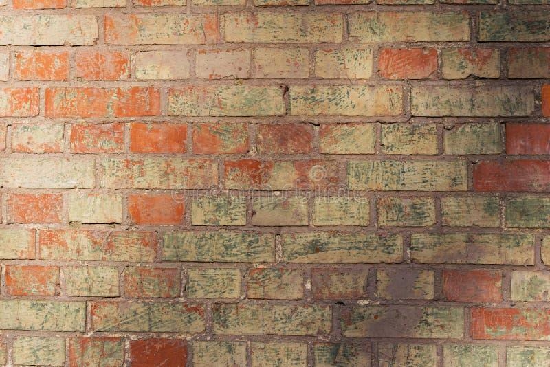 Fim do fundo da parede de tijolo acima da foto Ora sujo do grunge bonito imagens de stock