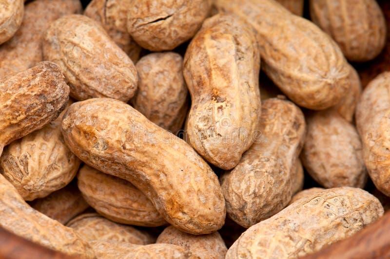 Fim do fundo dos amendoins acima foto de stock royalty free