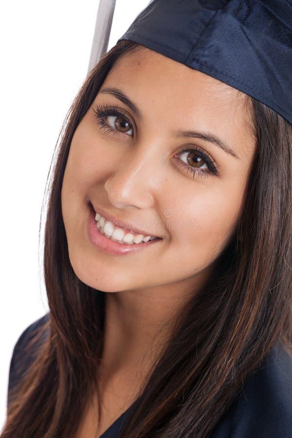 Fim do graduado de faculdade acima fotos de stock royalty free