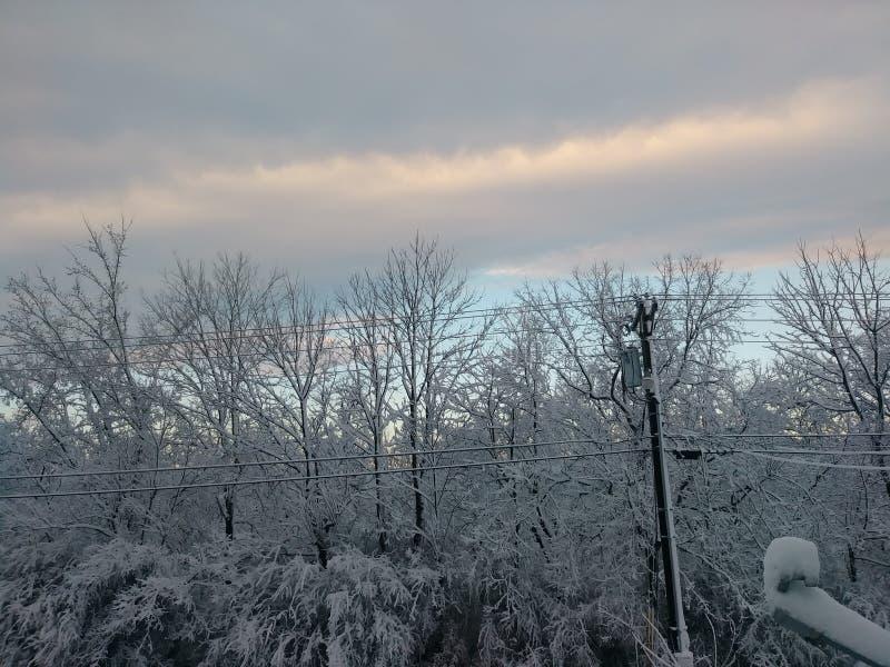 Fim do inverno fotografia de stock