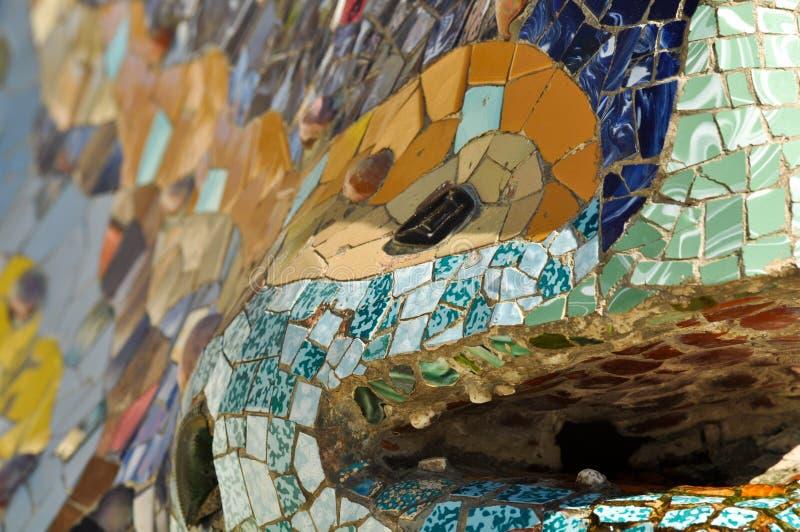Fim do lagarto da telha acima fotografia de stock royalty free