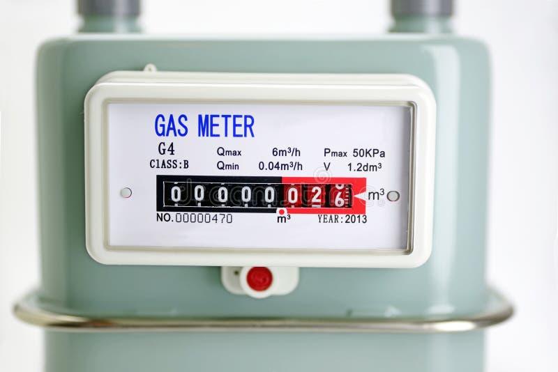 Fim do medidor de gás natural acima imagem de stock royalty free