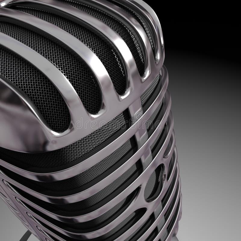 Fim do microfone ilustração do vetor