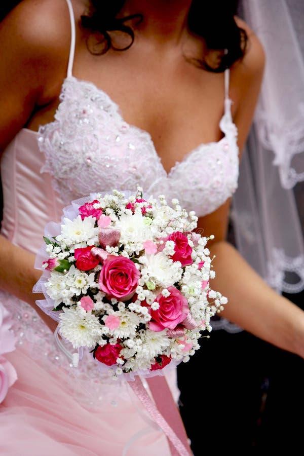 Fim do ramalhete do casamento acima imagem de stock