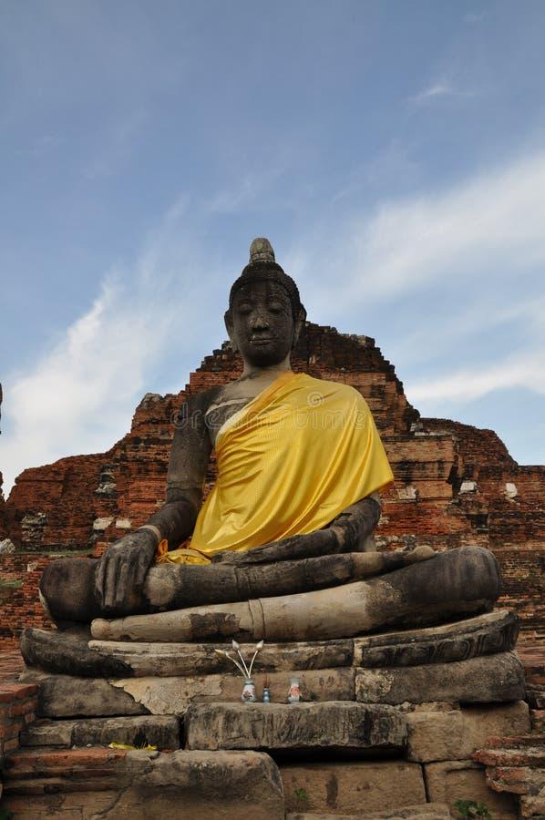 Fim do templo budista acima foto de stock royalty free