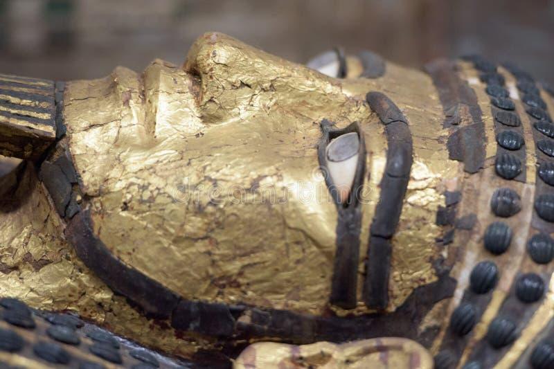 Fim egípcio do detalhe do sarcófago acima fotos de stock royalty free