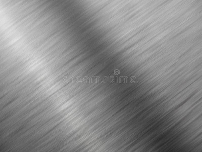 Fim escovado do metal acima da textura do fundo. foto de stock