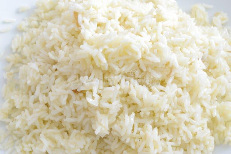 Fim fervido do arroz branco acima imagens de stock