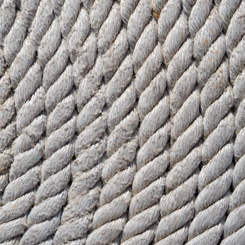 Fim firmemente enrolado da corda da pesca acima imagens de stock