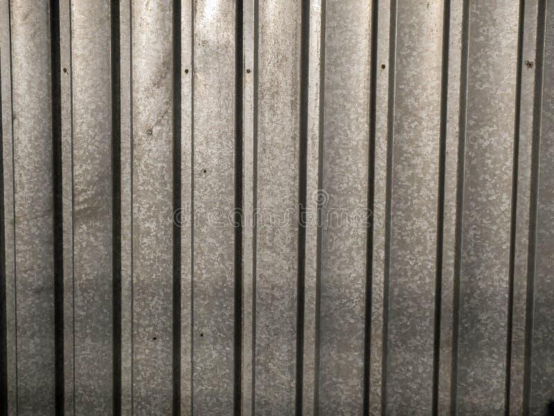 Fim galvanizado da cerca do jardim do a?o de folha acima do tiro ilustração stock