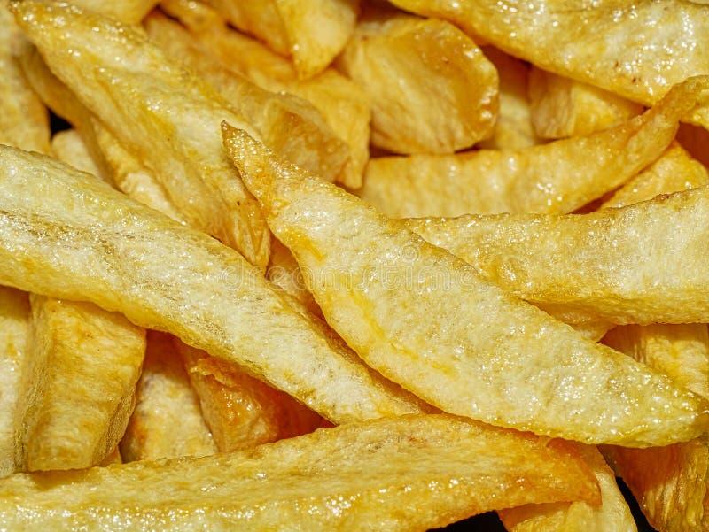 Fim home de Fried Potatoes acima fotografia de stock