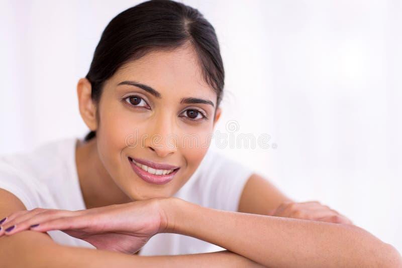 Fim indiano da mulher acima foto de stock royalty free