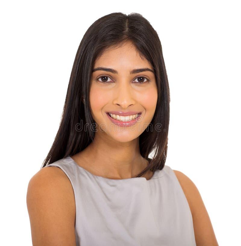 Fim indiano da mulher de negócios acima fotografia de stock
