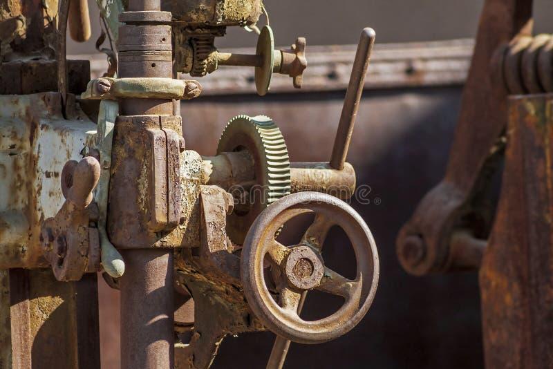 Fim industrial da válvula do vintage acima foto de stock