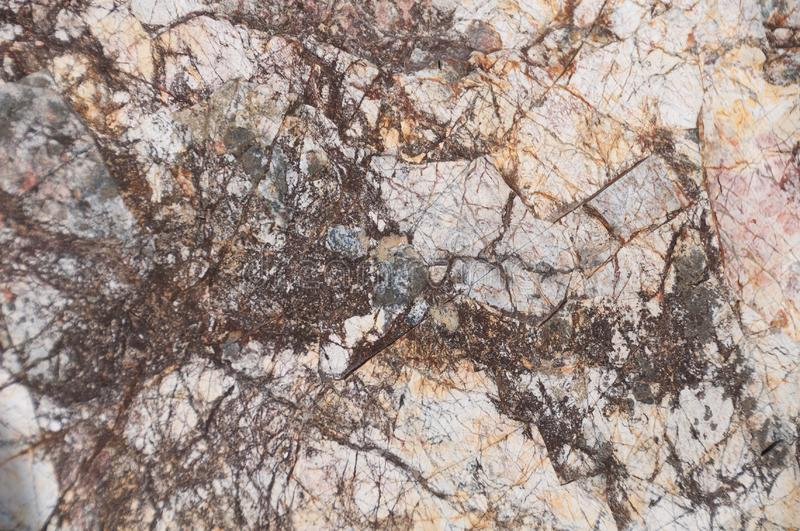 Fim intrincado da textura da formação de rocha acima Fundo natural das texturas foto de stock