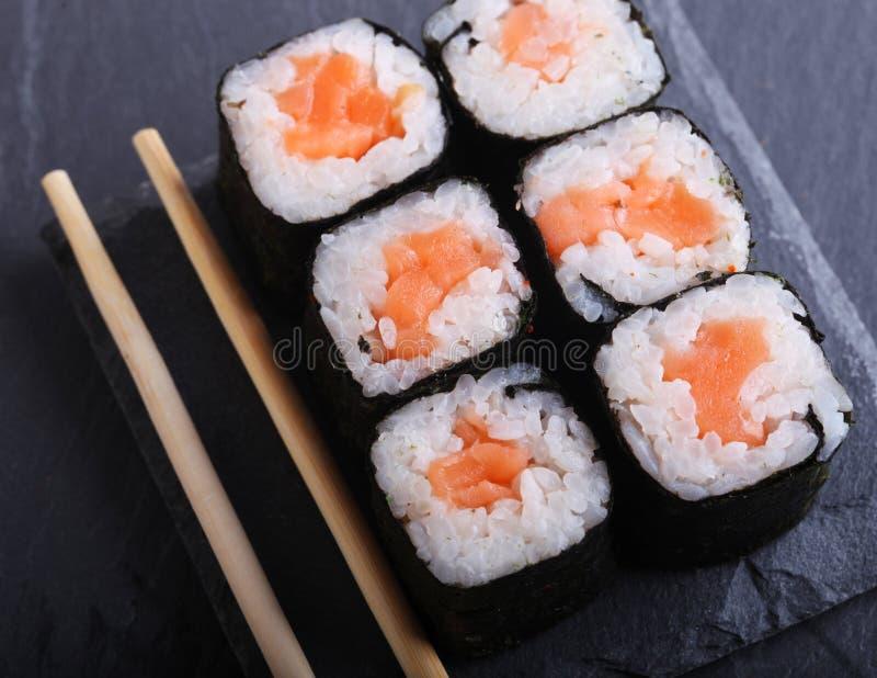 Fim japonês tradicional do alimento acima foto de stock royalty free