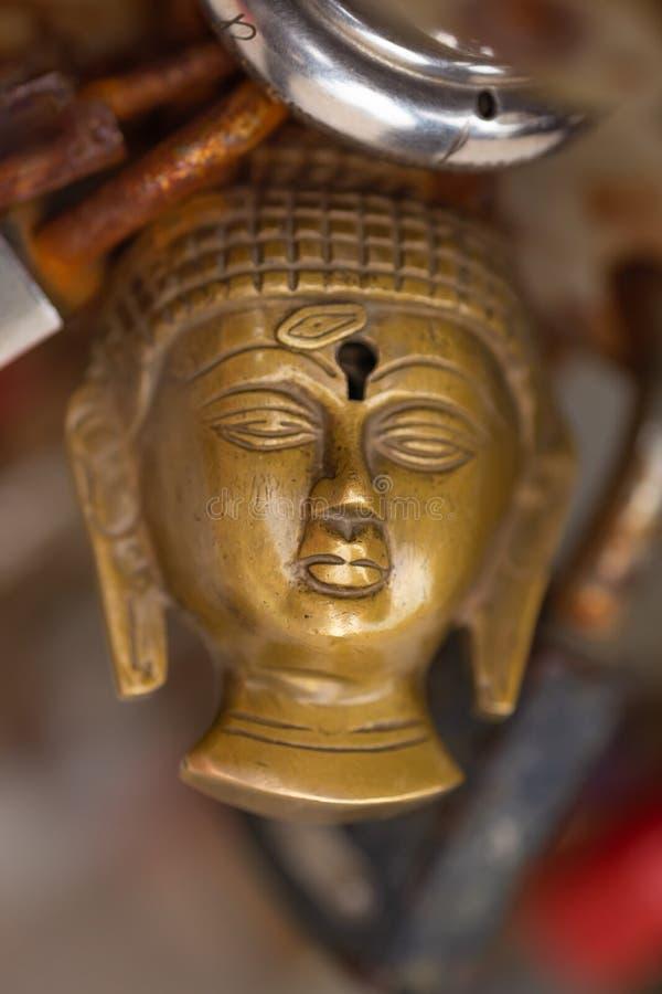 Fim principal do cadeado da Buda acima foto de stock royalty free