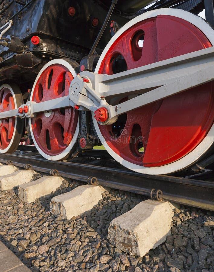 Fim velho da locomotiva de vapor acima fotografia de stock