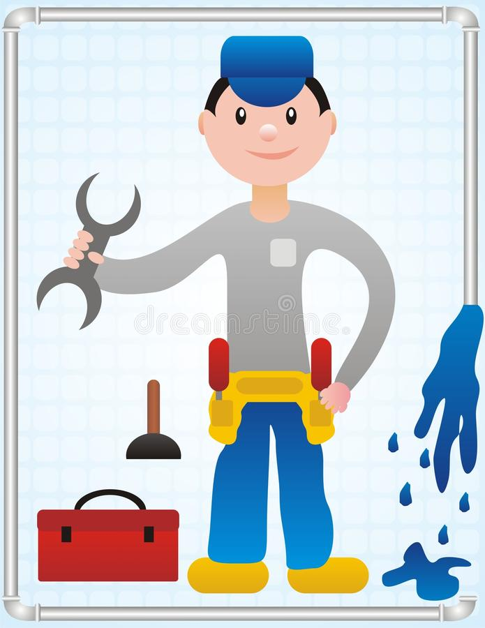 Download Fimin The Plumber stock vector. Image of tool, drain - 14583091